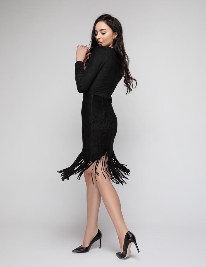 baaf07a5115 Купить платье с бахромой из экозамши Киев